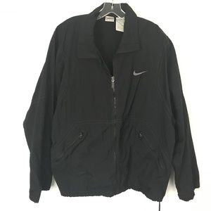 Nike Men's Black Nylon Zip Front Jacket Vent Back